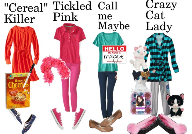 Maggieroyce autum ness cute easy halloween costumes maggie i know its been awhile but im here alive below i have some super fun and super easy halloween costume ideas cereal killer ccuart Gallery
