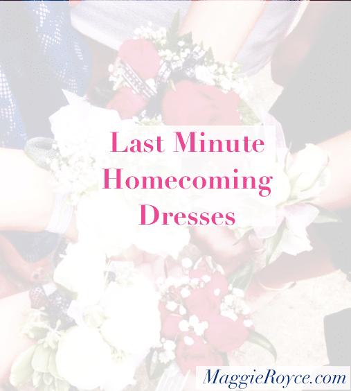 Last Minute Homecoming Dresses